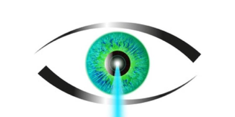 Laser Behandlung beim Augenarzt.